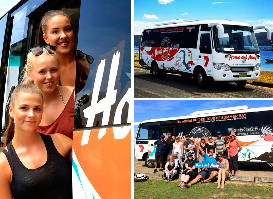 Official Home and Away Tour Bus