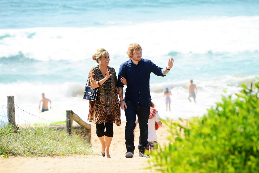 Marilyn shows Ed Sheeran around Summer Bay in Home and Away