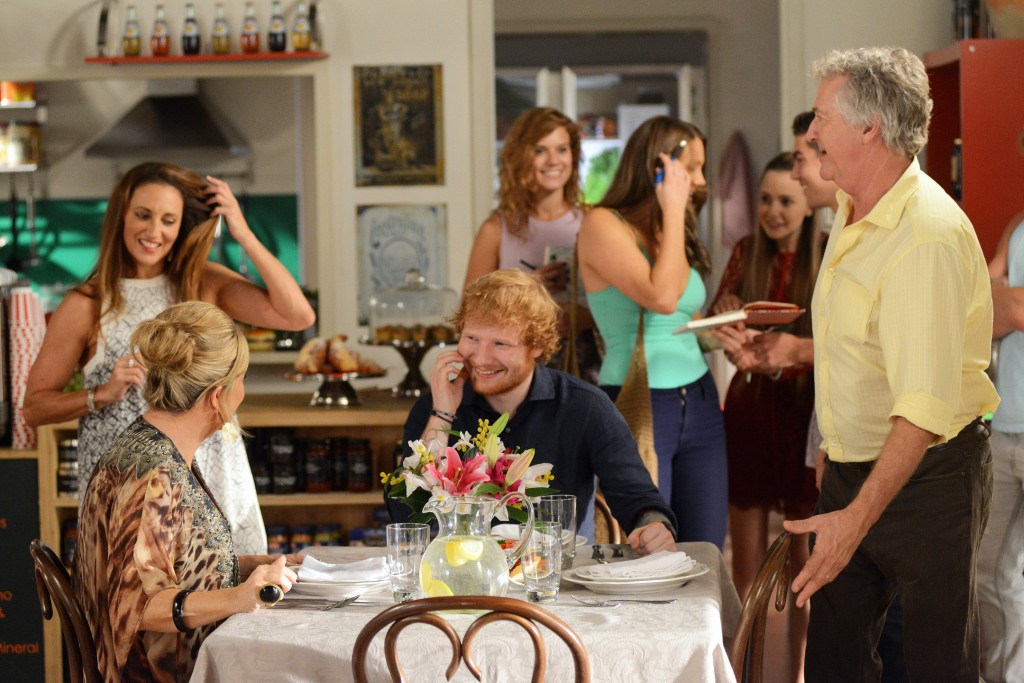 Marilyn's guest in Home and Away turns out to be Ed Sheeran!