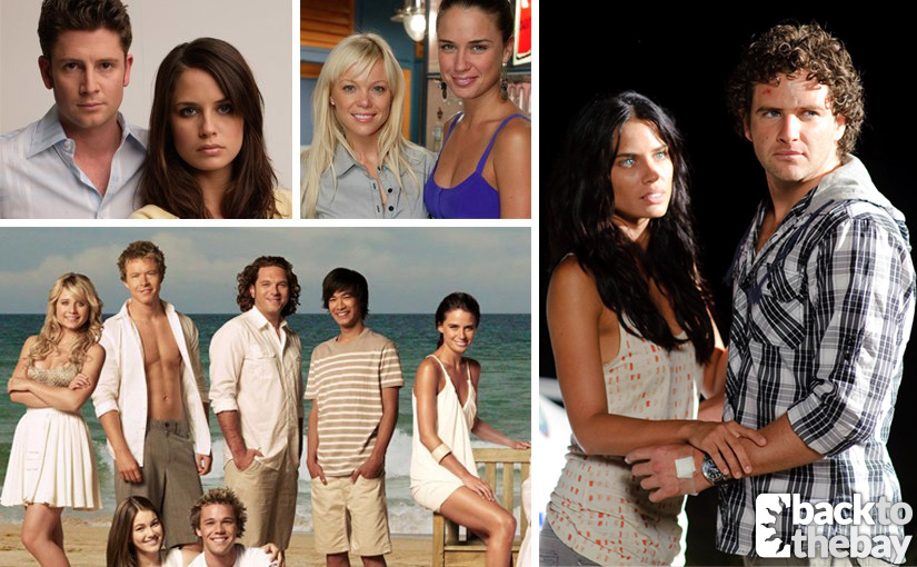 Jodi Gordon as Martha with Paul O'Brien as Jack (top left), with Holly Brisley as Amanda (top right), the cast of 2009 (above) and with Bernard Curry as Hugo Austin (right)