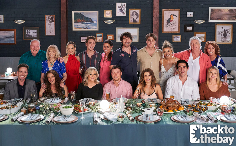 The Home and Away cast unite for a giant party in 'Christmas in Summer Bay' Episode 5