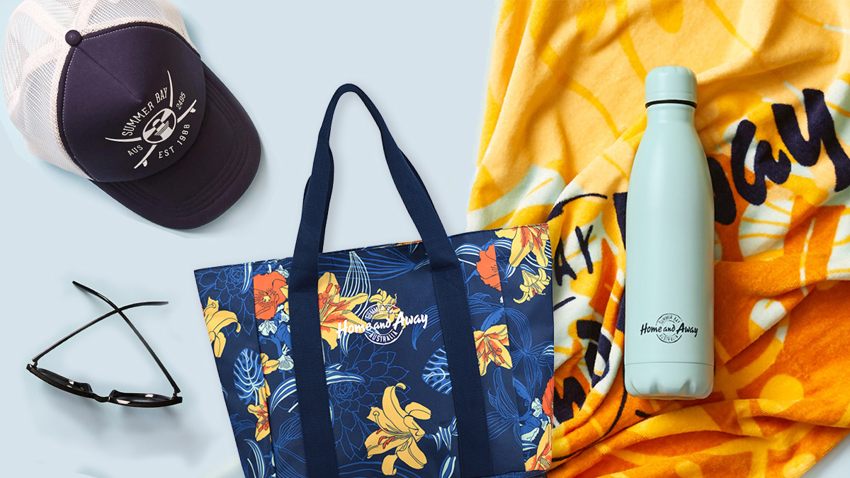 Home and Away Beach Bundle now available online, packed with show merchandise